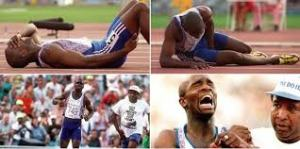 Derek Redmond at the '92 Olympics. Amazing story...but not a portrait of amazing grace.